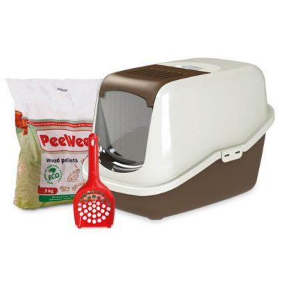 peewee-kattenbak-startpakket-ecohus-bruin